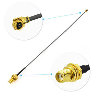 2-Pack-5cm-RF-Connector-Pigtail-Cable-SMA-Female-Bulkhead-to-Ufl-ipx-Extension