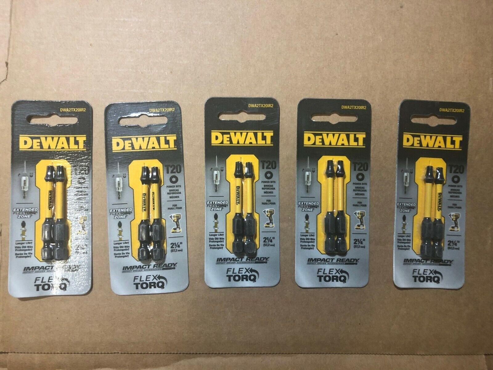 "T25 IRWIN N612635 2-1//4/'/'// N49970 T20 DeWALT 2/"" 2PC//Card,Torque Power Bits,"