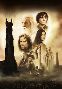 LORD-OF-THE-RINGS-TWO-TOWERS-Movie-PHOTO-Print-POSTER-Textless-Film-Art-005