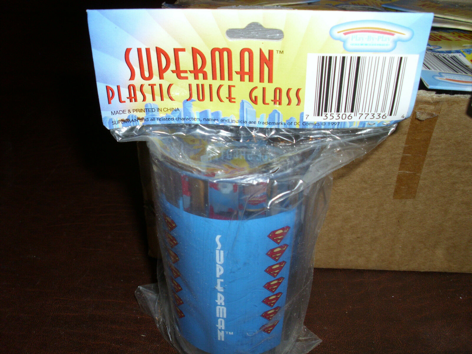 Vintage Superman Plastic Plastic Plastic Glasses Super Heroes Rare Superfriend DC Comic MIB 1997 2956d2