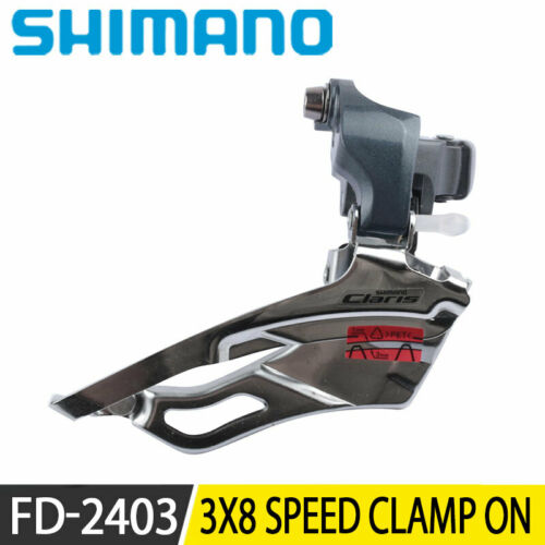 Shimano CLARIS FD 2403 Front Derailleur Clamp On 34.9mm 3x8Speed Road Bike Cycle