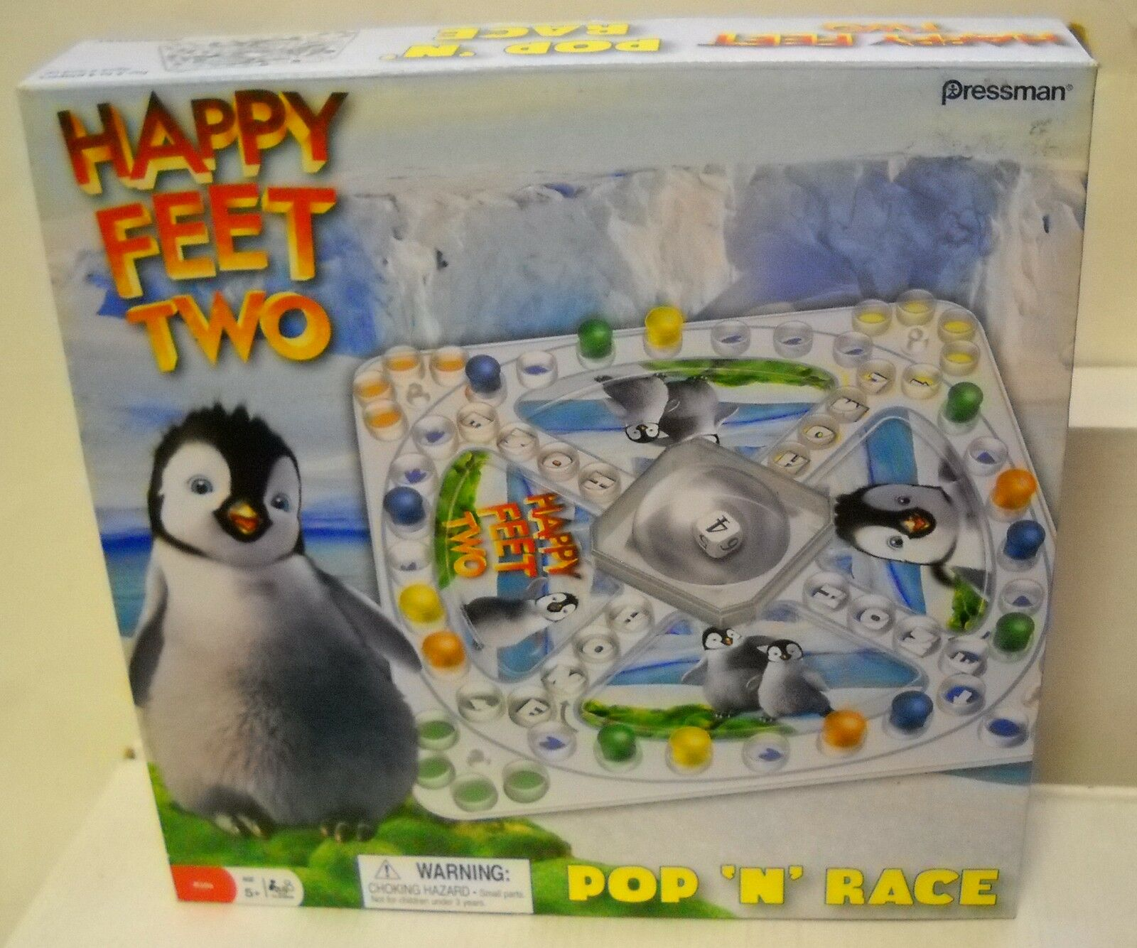 NRFB Pressman Happy Feet Pop N Race Game