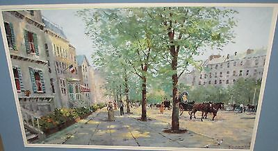 """ROBERT GIRRARD """"A TOUCH OF SPRING"""" HUGE COLOR LITHOGRAPH"""
