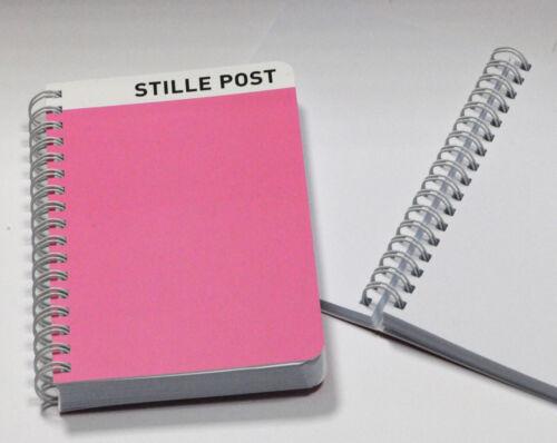Cedon-Kollektion Notizblock mit Ringbindung UVP € 6,90 Stille Post DIN A6