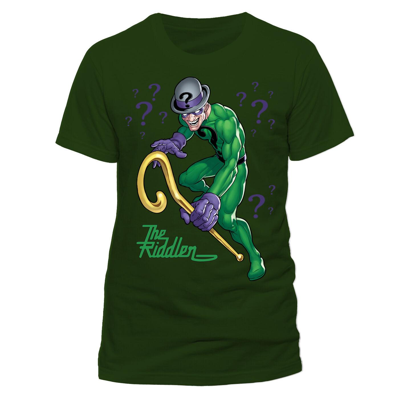 Officiel dc comics batman-the batman-the comics riddler personnage pose? unisexe t-shirt (neuf) 44d1e9