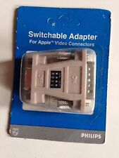 15 pin VGA Monitor Female to DB15 MAC Male Converter Adapter w/ 4 dip switches