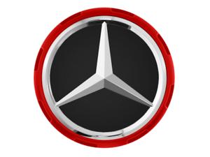 4x Originale Mercedes AMG MOZZO COPERCHIO CENTRALE CHIUSURA DESIGN ROSSO a00040009003594