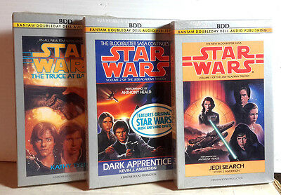 Cassette Sets SEALED Star Wars Audio Book Boxed Set of 3 M5446