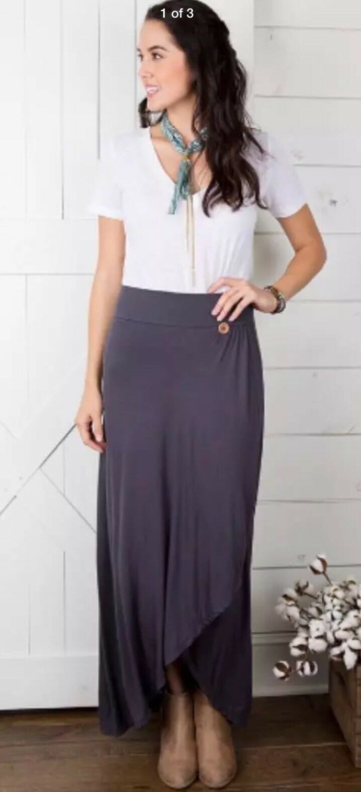 Matilda Jane Sweet And Simple Maxi Skirt Size Small Woman Joanna Gaines New