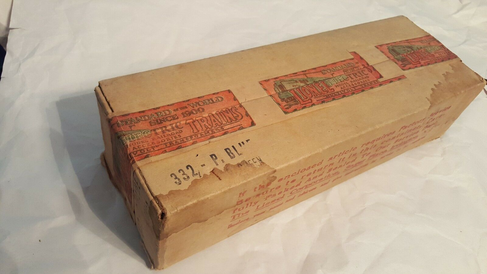 1930 332 P. blueE D GREEN Passenger car Box only