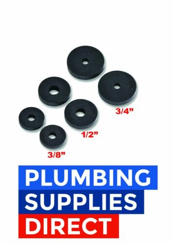 """3//4/"""" 1//2/"""" * Individual or Assortment of 2//4//10 Rubber Tap Washers In 3//8/"""""""