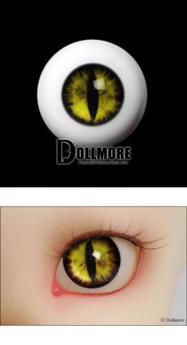 Yellow 09 OMeta Half Round Acrylic Eyes 14mm Acrylic Cat Eyes ooak 14mm