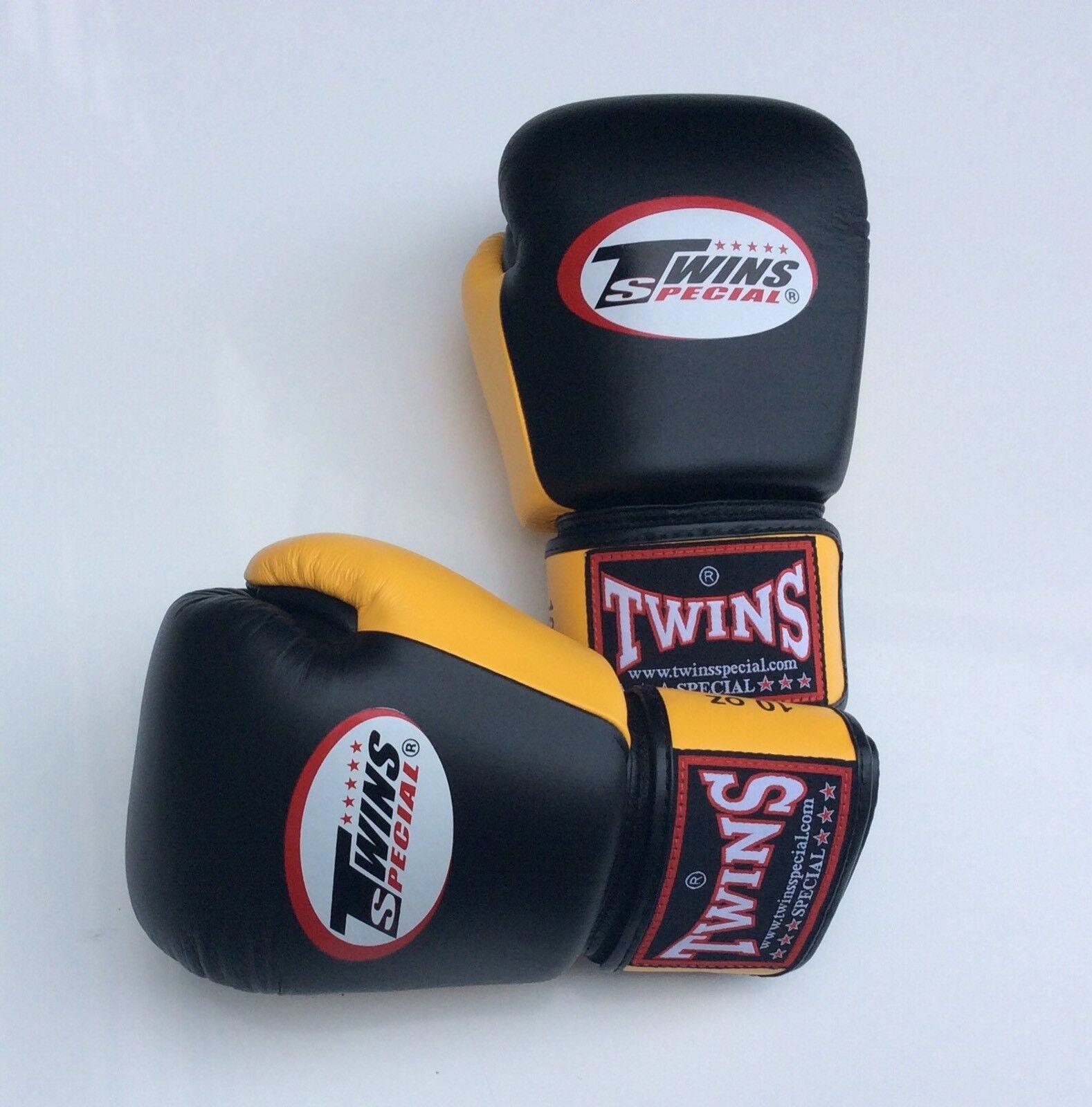 Twins Special Bgvl-3T Blk/Gelb 10oz Muay Thai/ Boxing Gloves