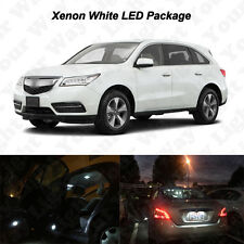 16 x White SMD LED Interior Bulbs + Reverse Lights For 2014-2016 2017 Acura MDX