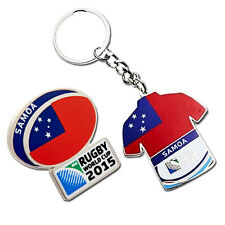 Rugby World Cup 2015 Samoa Flag Pin and Key Ring Set