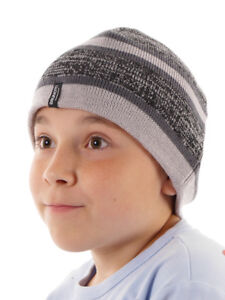 Brunotti Beanie Bonnet D'hiver Tricoté Kinzano Gris Rayures Polaire High Quality Goods Chapeaux