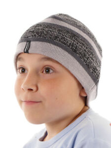 Brunotti Beanie Bonnet D'hiver Tricoté Kinzano Gris Rayures Polaire High Quality Goods Enfants: Vêtements, Access. Vêtements, Accessoires