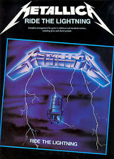Metallica Ride The Lightning Learn to Play Heavy Metal Guitar TAB Music Book