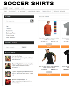 FULLY STOCKED SOCCER SHIRT WEBSITE WITH 1 YEARS HOSTING & DOMAIN - ECOMMERCE