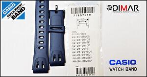 Vintage Casio Original Replacement Band - AW-24-2BV Nos. Colour Blue