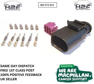 3B0 973 813-6 PIN Macho Conector Plug Pre Con Cable VW Audi 3B0973813 Freepost