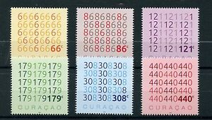 Curacao-2016-MNH-Numbers-6v-Set-Mathematics-Maths-Stamps