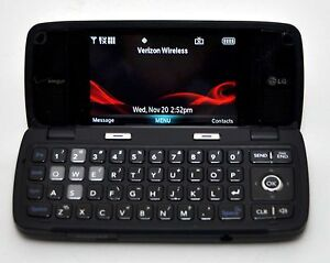 Lg voyager vx10000 verizon cell phone black flip touchscreen.