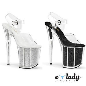 2f998ab1a258 Image is loading Pleaser-Flamingo-808G-Shoes -Platform-Sandals-Stilettos-High-