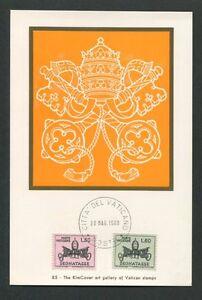 VATICAN-MK-1968-PORTO-PAPST-POPE-PAPA-MAXIMUMKARTE-MAXIMUM-CARD-MC-CM-d7590