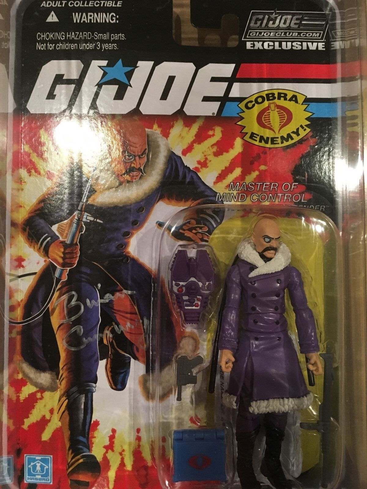 Gi Joe con 2015 club carded Arctic Dr Mindbender exclusive SIGNED Brian Cummings