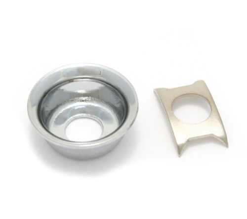 """Chrome Recessed /""""Cup/"""" Jack Plate for Fender Telecaster//Tele® AP-0275-010"""