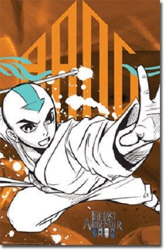 JAPANESE ANIME MOVIE LAST AIRBENDER AANG 22x34 NEW POSTER PRINT FREE SHIPPING