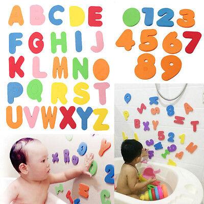 36X Foam Letter Figures Bathroom Bath Tub Children Kid Education Alphabet Toy US