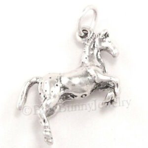 Sterling-silver-HORSE-charm-Appaloosa-pendant-Western-Riding-3D-925-925