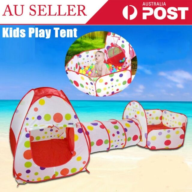 Foldable Kids Baby Play Pit Tunnel Ball Pool Pop Up Tent Playhouse Outdoor Set A