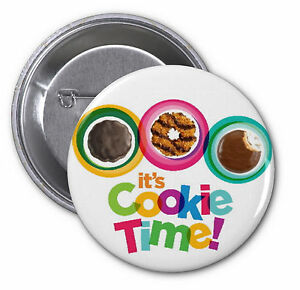 girl scout cookies 2 25 pinback buttons it s cookie time pins rh ebay com