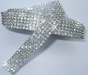 3mm-iron-on-CHATON-Diamond-5strip-CLR-SILVER-CRYSTAL-DIAMANTE-REEL-rope-ribbon
