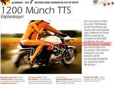 MÜNCH 1200 TTS Mammut Mammouth 1970 Fiche Moto 000220