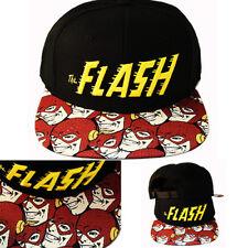 2dd8fec26bf48d DC Comics Marvel Cartoon The Flash Snapback Hat Video Game Sublimation bill  Cap