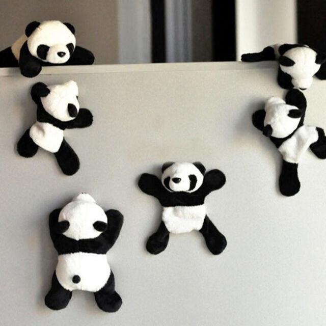 1Pc Cute Soft Plush Panda Fridge Magnet Refrigerator Sticker Home Decor Souvenir