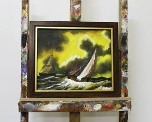 Painting-Oil-Painting-Picture-Oil-Frame-Pictures-Sea-Ships-Sea-OlgemaldeG96086