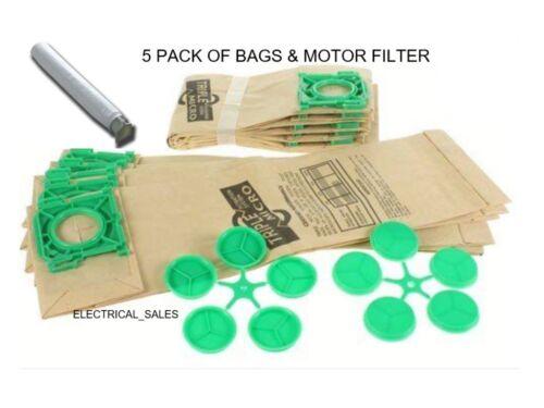 FITS SEBO AUTOMATIC X AIRBELT C ULTRA BAGS X1 X4 X4 XP2 XP3 x 5 /& MOTOR FILTER
