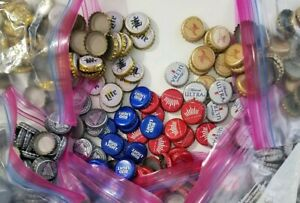 Domestic-Beer-Bottle-Caps-Crowns-Assorted-Brands-as-Pictured-Lot-of-100-Clean