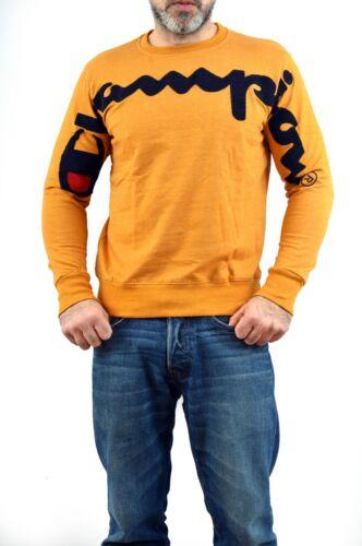 BNWT Champion 100/% Cotton Mustard Jumper Sweatshirt Top Sponge Logo Stylish SLIM