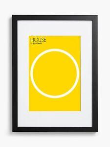 House-by-John-Lewis-Black-Poster-Frame-amp-Mount-50-x-70cm-B