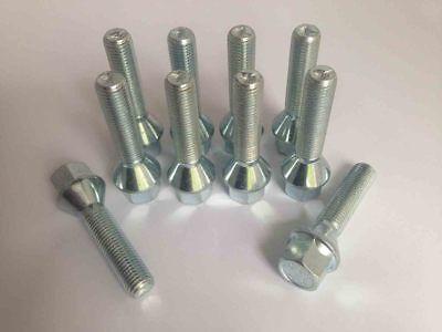 Levando tornillos perno de rueda 20 unid m12x1.5x42 sw17 cono 60 ° kegelbund plata
