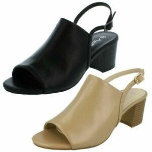 Ladies Peep Toe Mid Heel Sandal *Anne Michelle*