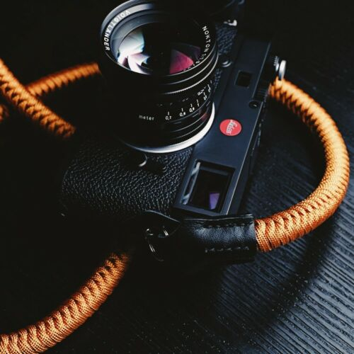 Strong Climbing Rope /& Leather Braided Camera Neck Shoulder Strap for DSLR SLR