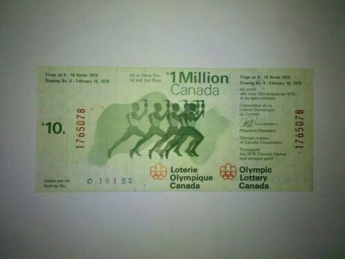 Details about  /Olympic Lottery Canada Feb 16 1975 Draw #4