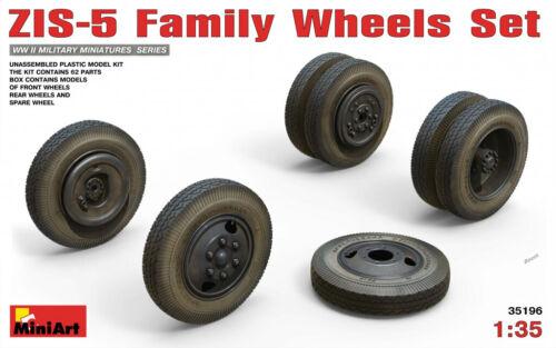 Miniart 1:35 ZiS-5 Family Wheels Set Model Kit
